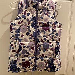 Lands' End Girls Floral Vest Size M (10-12)